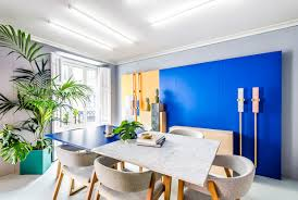 colorful office space interior design. Colorful Meeting Area Modern Office Design Space Interior