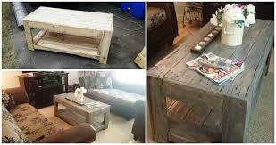 diy wood pallet coffee table easy