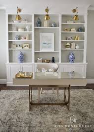 home office makeover pinterest. Simple Office Sita Montgomery Interiors My Home Office  Makeover Reveal To Pinterest L