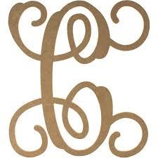 12 wood letter vine monogram c zoom