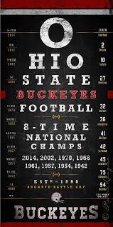 Osu Chart Ohio State Buckeyes 8 Time Champs Osu Eye Chart By