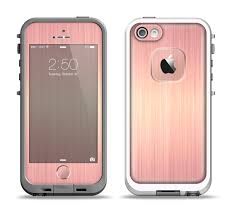 iphone 5s rose gold case. the rose gold brushed surface apple iphone 5-5s lifeproof fre case skin set iphone 5s