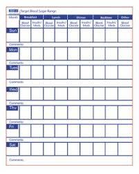 Monthly Diabetes Log Sheet Printable Blood Sugar Log Memo