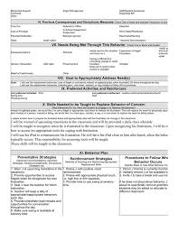 Assessment Example My Example Behavior Plans and Functional Behavior Assessments ...