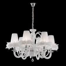 Kronleuchter Weiß Mit Lampenschirmen Hängeleuchte