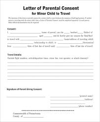 Parental Travel Consent