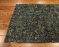 rugsville dark green wool over dyed 12214 rug