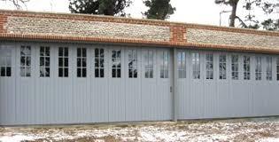 side sectional garage door in timber