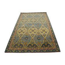 obeetee orange blue tam and grey wool rug