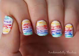 Fundamentally Flawless: Triplet Nails: Rainbow Sugar Spun Nails ...