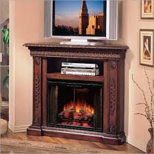 modern corner electric fireplace tv stand combo