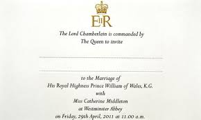 royal wedding the prince william and kate middleton guest list as Wedding Invitations Charity Uk royal wedding invite wedding invitations charity uk