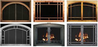 fireplace glass doors fireplace