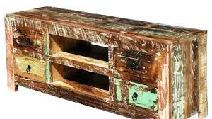 C Unique Entertainment Distressed Wood Centers Metal And Center  Reclaimed Media Console Intended For Rustic