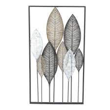 fp collection austin leaves metal wall art