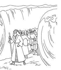 Kleurennu Mozes Met Het Volk Door De Rode Zee Kleurplaten