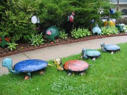 garden decorations. Image Of Garden Decor Ideas Home Diy Small And Decorations