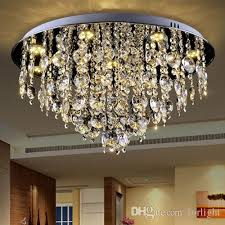 modern dimmable led round crystal chandeliers light decor chandelier pendant lightings fixture for living room bedroom guest room hotel room kitchen