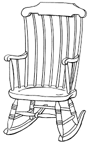 rocking chair drawing easy. pin chair clipart line drawing #9 rocking easy a