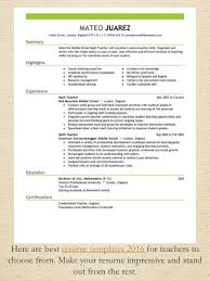 Resume Writing Template Best Resume Template 2016 Resume Writing