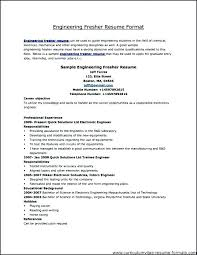 Resume Format For Fresher Resume Sample In Resume Format For