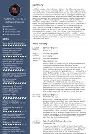 Software Engineer Sample Resume Software And Template