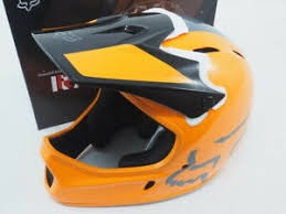 Details About New Fox Rampage Full Face Dh Bicycle Helmet Size Large 59 60cm Orange Gray