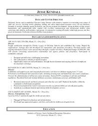 Childcare Resume Sample Child Care Me Examples Child Care Director