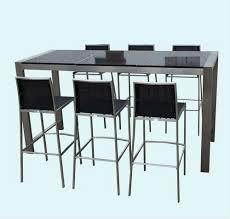 outdoor granite top stainless steel bar table