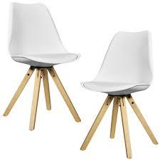 Encasa 2x Design Stühle Esszimmer Stuhl Holz Kunststoff