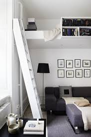 Bedroom: Under Loft Seating Area With Loft Beds - Modern Loft Beds