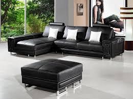 modern black leather couches. T957 \u2013 Modern Black Leather Sectional Modern Black Leather Couches H