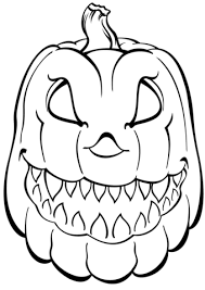 Small Picture Scary Pumpkin coloring page Free Printable Coloring Pages