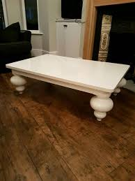 next bardot coffee table white gloss