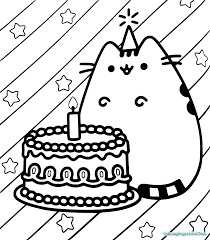 Pusheen Coloring Pages Free Printable Coloring Pages