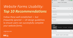 Guidelines For Data Entry Screen Design Website Forms Usability Top 10 Recommendations