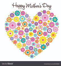 Mother S Day Graphic Design Happy Mothers Day Flower Heart Graphic