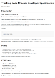 Design Spec Example A Lean Guide To Project Specifications Gosquared Blog
