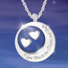 i love you to the moon and back necklace sterling silver diamond