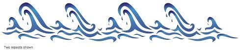 ocean wave stencils