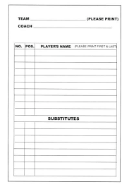 Little League Roster Template Roster Cards Template Soccer Roster Template Youth