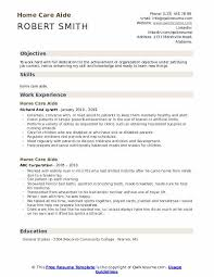 Home Care Aide Resume Samples Qwikresume