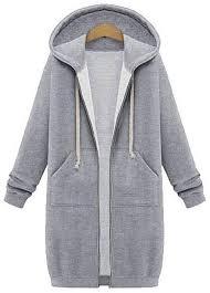 fashion winter coats women sweatshirts coat casual pockets zipper outerwear hoos jacket plus size long hooded