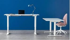 ikea office furniture canada. Ikea Furniture Office These Two White Desks Have Different Heights Because They An Electric Mechanism Canada
