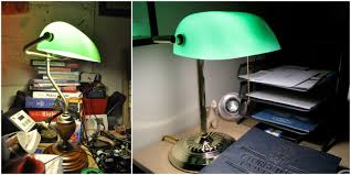 the banker s lamp also known as emeralite is one of the most recognizable lamp designs in the world the lamp was initially used in libraries