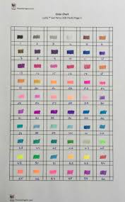 Color Chart For Lolliz Gel Pens 100 Pack The Coloring Inn