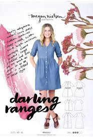 Dress Patterns Beauteous Darling Ranges Dress Sewing Pattern Megan Nielsen