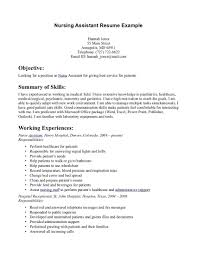 Resume For Cna Examples Examples Of Cna Resume Cna Certified Nursing Assistant Resume Sample 5