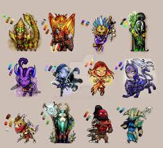 dota2 heroes by korn elia on deviantart