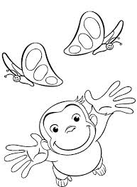 Curious George Coloring Page Curious Coloring Page Curious Coloring
